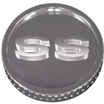 Camaro 67-68 - Billet Gas Cap, Ribbed Matte Body with Polished