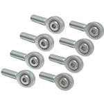 Rod End Set - 4130 Teflon-Lined (Set of 8) - 1/2