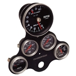 GAUGE & TACH MOUNT, FOUR 2-5/8
