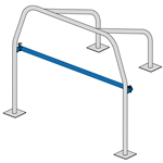 4-POINT ROLL BAR WITH BENT REAR STRUTS