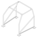 ROLL CAGE ROCKER SUPPORT 1-5/8 TUBE 4130