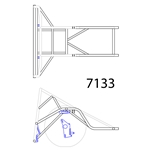 Pro 4-Link Rear Clip Only (4130), 3-1/2