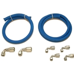Blue Fiber Braided Hose Kit for Remote Reservoir - Street and Pro Pumps