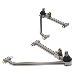 LOWER DRAG A-ARM SILVER POWDER COATING (PAIR)
