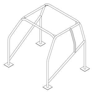 ROLL CAGE HELMET BAR 1-5/8 TUBE MILD STEEL