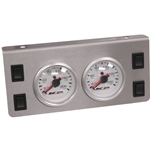 Gauge Panel - Two Dual Needle 0-200 psi Gauges with Four Rocker Switches