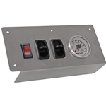 Gauge Panel - One Dual Needle 0-200 psi Gauge with Two Air Switches