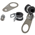 "Hose Clamp with Bracket Set – ¾""-Bore Mount with ½"" Hose Clamp"