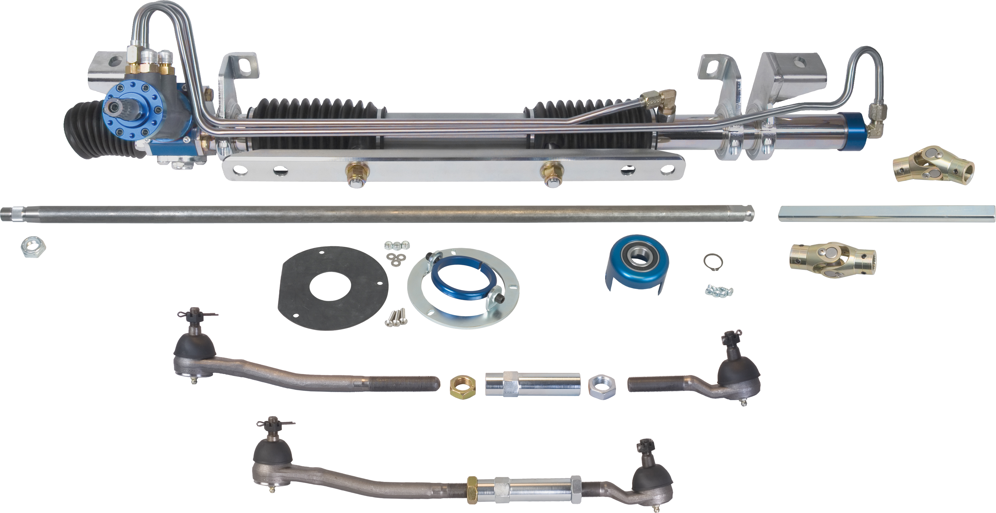 pinion left parts steering and drive power kit unisteer with fairlane hydraulic performance rack ford hand